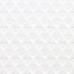Heart  shape  embossed  paper  70g  ( white )