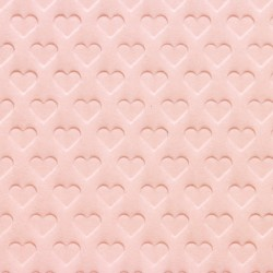 Heart  shape  embossed  paper  ( pink ) coloured  wood – free