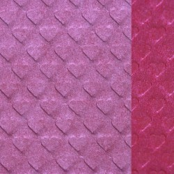 Heart  shape  embossed  and  waxed  paper  ( madder  red  /  pake  pink )