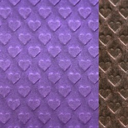 Heart  shape  embossed  and  waxed  paper  ( royal  purple   /   chestnut  brown )