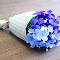 あじさいの花束をteshio paperでラッピング!!