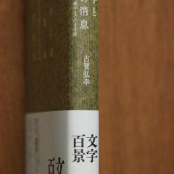 『文字と書の消息』表紙に「筋入りターポリン紙」!!