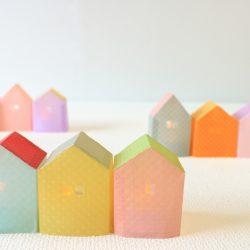 ドロップシリーズを家の型紙からたくさん制作