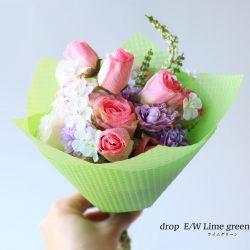 この時期おすすめ、【ドロップ E/W ライムグリーン】花束を。