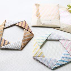 teshio【Design paper】おりがみで六角リースを制作
