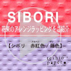 SIBORIの花束ラッピングⅡ動画をYouTubeに公開!!