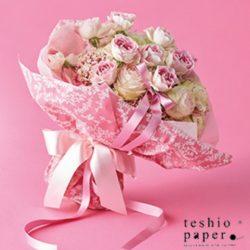 シンフォニー&クロエ&SIBORIの鉢と花束ラッピング