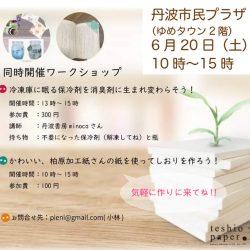 丹波市で6月20日teshioの紙を使ったワークショップが開催されます‼
